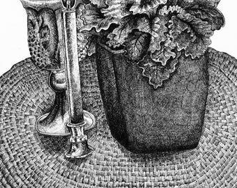 Pen Still Life Art Print 11 x 14