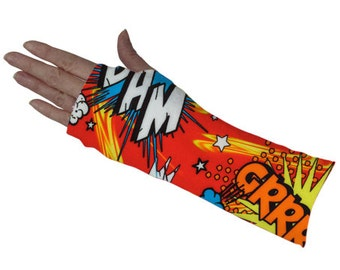 """Short Arm Cast Cover - """"Comic Red"""""""