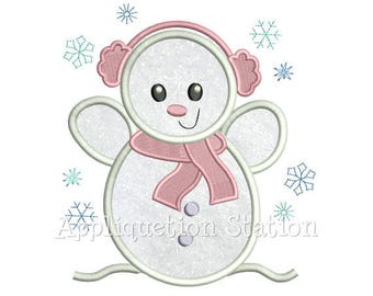 Snowman, Snow Girl, Snow Lady,Winter,Embroidered, Appliqued Shirt, T Shirt,Onesie, Bodysuit Personalized