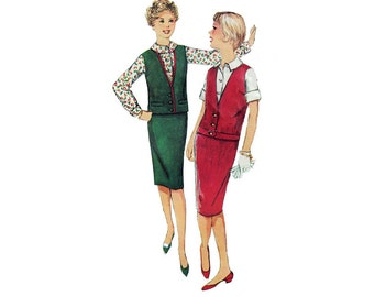 """1950's Simplicity 3124 Sub-Teen Blouse, Skirt, and Jacket Size 14s 
