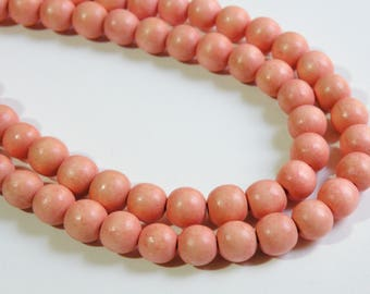 Light Orange wood beads round 10mm full strand eco-friendly Cheesewood 1591NB