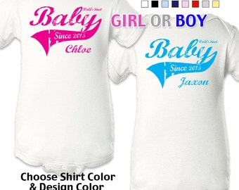 Baby Since - Personalized with Name & Year. Bodysuit / Boys / Girls / New Baby / Shower Gift
