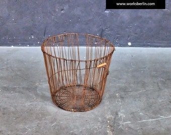 vintage metal basket