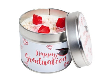 Happy Graduation Candle Tin