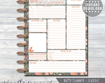 HAPPY PLANNER PRINTABLE Daily Planner Refills / Inserts - 7 x 9.25 | Fall Floral | Create 365 | Me & My Big Ideas | mambi | Daily