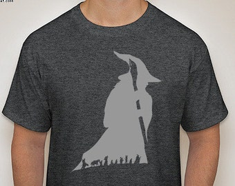 Lord of the Rings:Gandalf Custom Silhouette T-Shirt