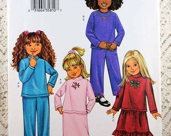 Butterick 3674, Child's Top, Skirt and Pants Sewing Pattern, Easy Sewing Pattern, Child's Size 2, 3, 4, 5, Uncut