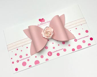 Pink headbands, light pink, flowers, spring bows