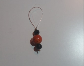 Small orange spots stitch marker set