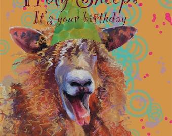 Holy Sheep Birthday Card