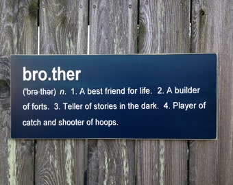Brother Definition Sibling Plaque Sign