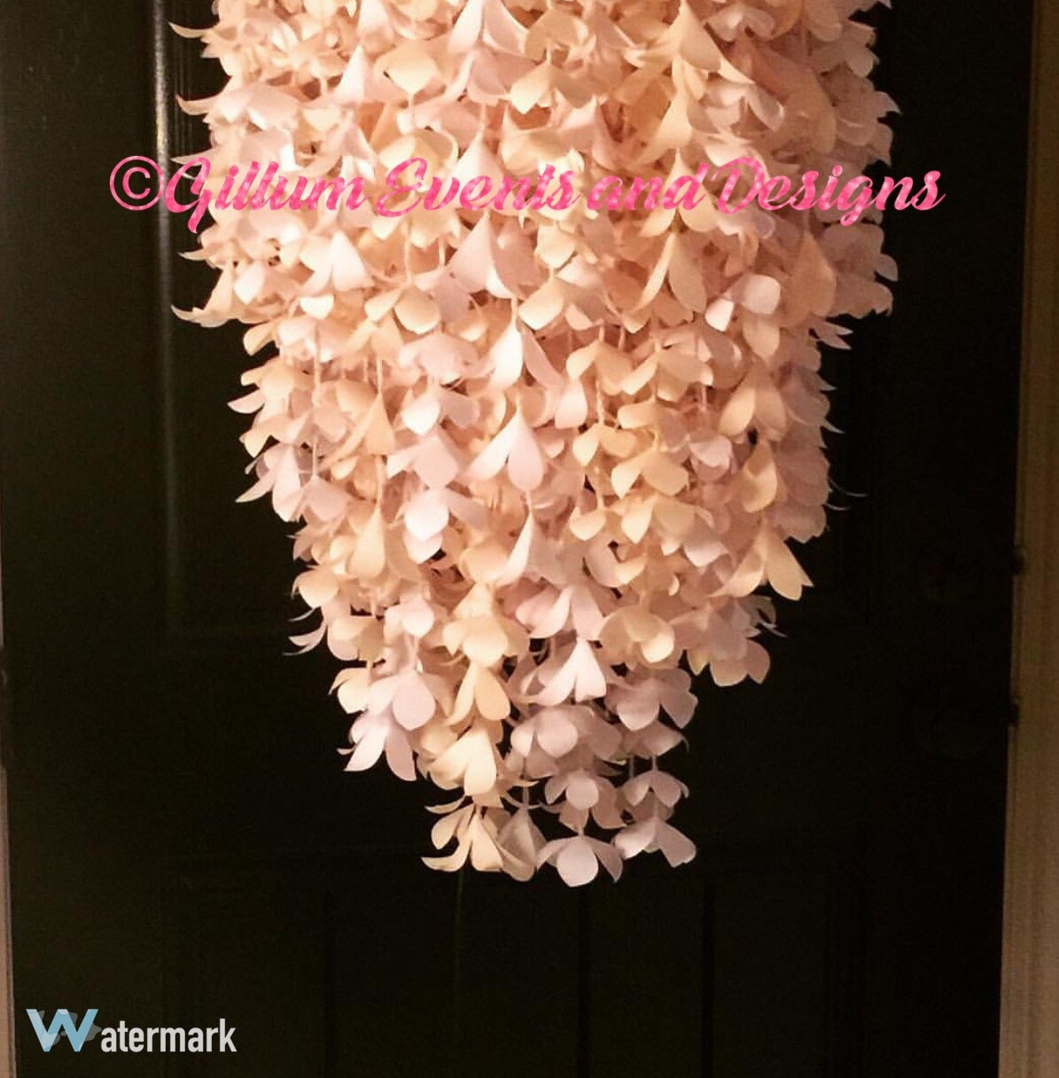 Paper flower chandelier acurnamedia paper flower chandelier aloadofball Image collections