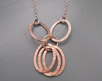 6 gold rings necklace