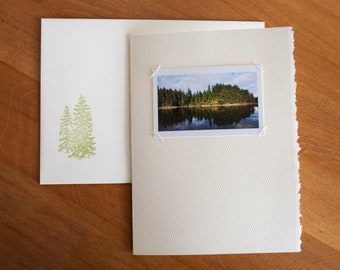 Hand Sewn Blank Photo Cards with Deckled Edge