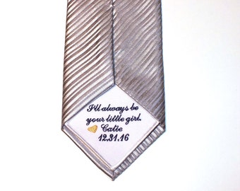 Embroidered Tie Patch - Wedding Tie Patch - Father of the Groom Bride Gift - Tie Patch - Tie Gift - Gift for Dad - Personalized Tie Patch