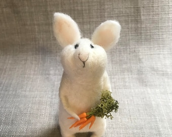 Needle Felt white rabbit