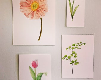 Custom Botanical Watercolor Painting