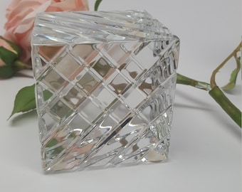 Baccarat Crystal cube PaperweightBlack Friday Sale
