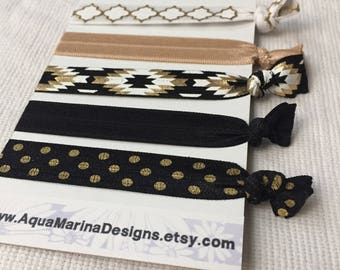 Black Aztec Hair Ties