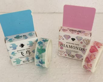 Soft colours Washi Tape - various designs