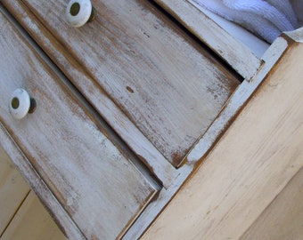 Wood Furniture Storage - Shelf - Shabby - Cottage Chic Decor - Bathroom - Kitchen - Bookshelves - Bath - Closet Organization - Organizer