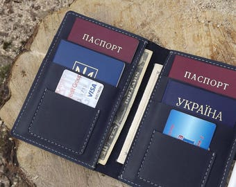 Leather family passport holder\ Leather Family Passport Cover\ 4, 6, 8, 10 Passports holder\ family passport holder\ leather travel wallet