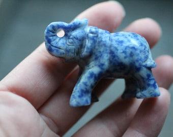 Sodalite Elephant 2 inch Animal Figurine #86447