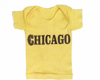 Vintage Baby Yellow Chicago Tshirt