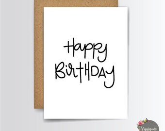 Happy Birthday Card, Greeting Cards, Birthday Card, Birthday Gift, Happy Birthday, Stationery Cards, G002