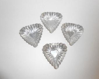 vintage heart shape tart tins