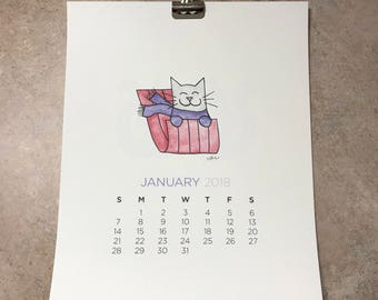 2018 Cartoon Cat Calendar