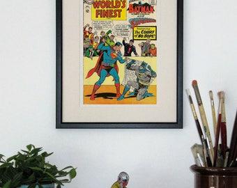 Framed comic - Worlds Finest #163