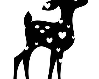 ANIMAL BAMBY DEER FOREST YOUTH DOE BABY BAMBI FAWN STAMP