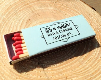 Set of 50 It's a Match Matchboxes * Personalized Matches * Custom Matches * Personalized Match box * Party Favor Matches * Matches * Favors