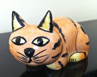 Lorna Bailey Artware - Ceramic Pottery Ginger Halloween Cat - Free P&P