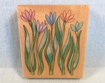 Flower Rubber Stamp from Inkadinkado