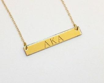 Gold Mirror Acrylic Bar Necklace