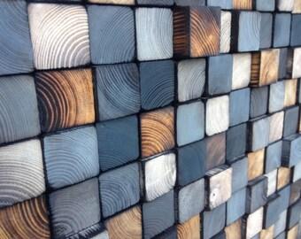 Reclaimed Wood Wall Art - Wood Wall Art Sculpture