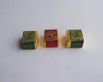 1979 Crabtree & Evelyn Royal Fern Almond Oil Bath Cubes Lot of 3