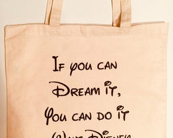 Walt Disney/Mickey Mouse If You Can Dream It, You Can Do It tote bag