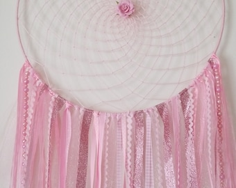 Handmade pink Dream Catcher