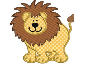 Lion Wild Jungle Animal APPLIQUE Machine Embroidery Designs