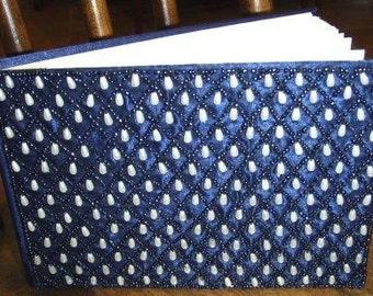 paper supplies ... Royal Blue BEADED SILK JOURNAL ...