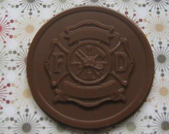 One dozen fire department medallion party favors
