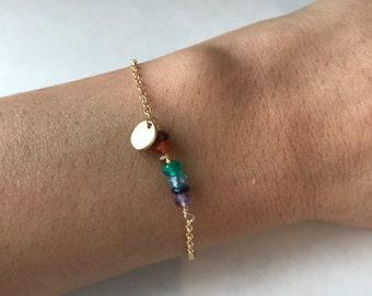 Yoga Bracelet Chakra Bracelet Healing Bracelet 7 chakra Bracelet Layering Bracelet  Boho Bracelet Healing Bracelet  Gemstone Bracelet