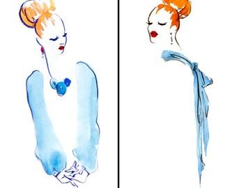 Fashion Illustration, Printable Art, minimalist art, home decor, digital art,