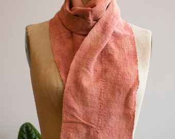 Peach Naturally Dyed Vintage Scarf (limited edition)