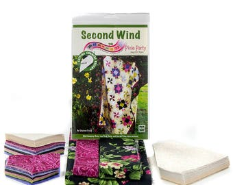 """QUILT KIT - Second Wind by Sharyn Craig of Cozy Quilt Designs for RJR, Weather Vanes & Pinwheels, Comes with everything pre-cut, 57"""" X 75"""""""