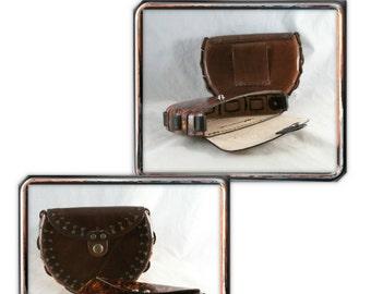 PATTERN - Delphi round belt bag pattern - pattern for leathercraft - PDF pattern ONLY