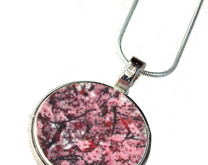 Cherry Blossom or custom image pendant with your photo